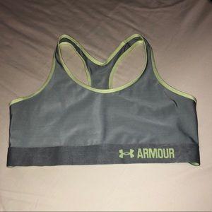 Under Armour Grey Sports Bra • Large